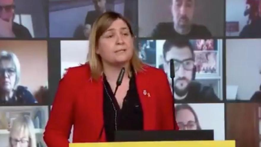 Agnès Lladó, present a l'acte municipalista d'ERC