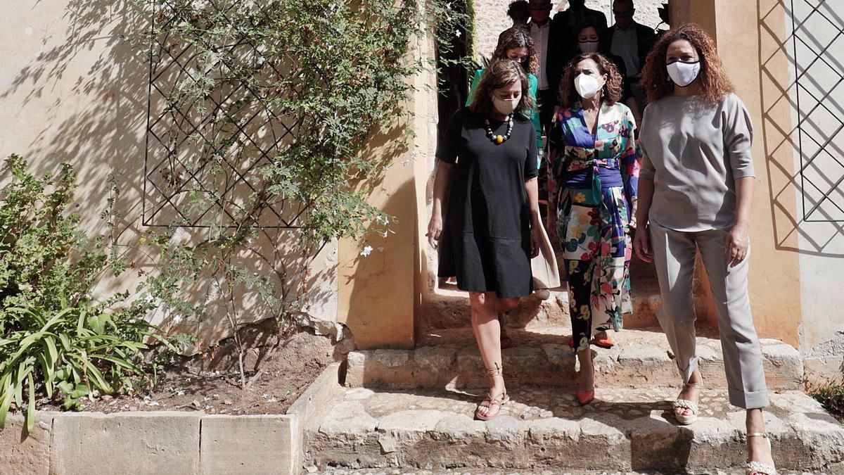 Armengol, Montero y  Cladera, este septiembre en Raixa. e.p.