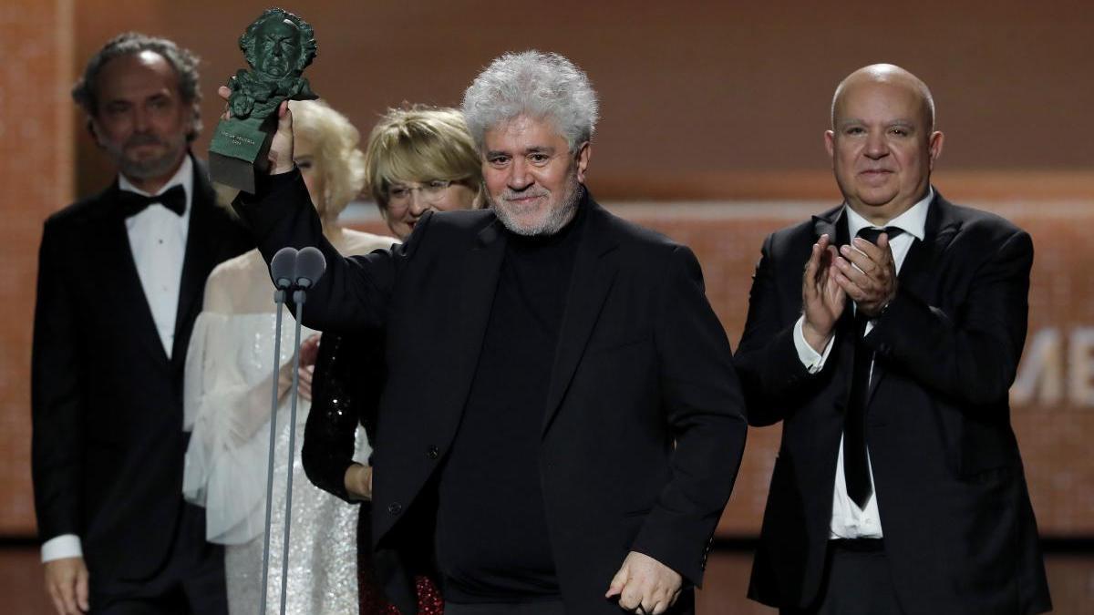 Pedro Almodóvar recoge uno de los premios Goya por 'Dolor y gloria'