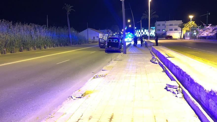 Fin de semana en Ibiza con varios accidentes de tráfico con heridos