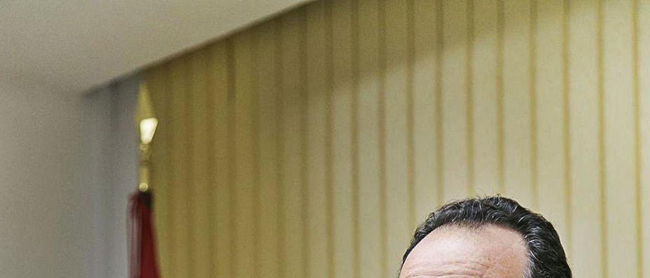 Ignacio Blanco, en la sede de Vox.