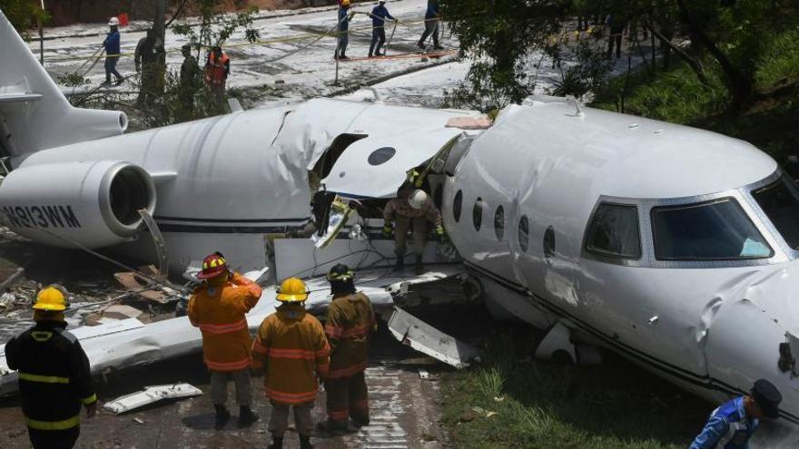 Seis heridos en un accidente de avión en Honduras