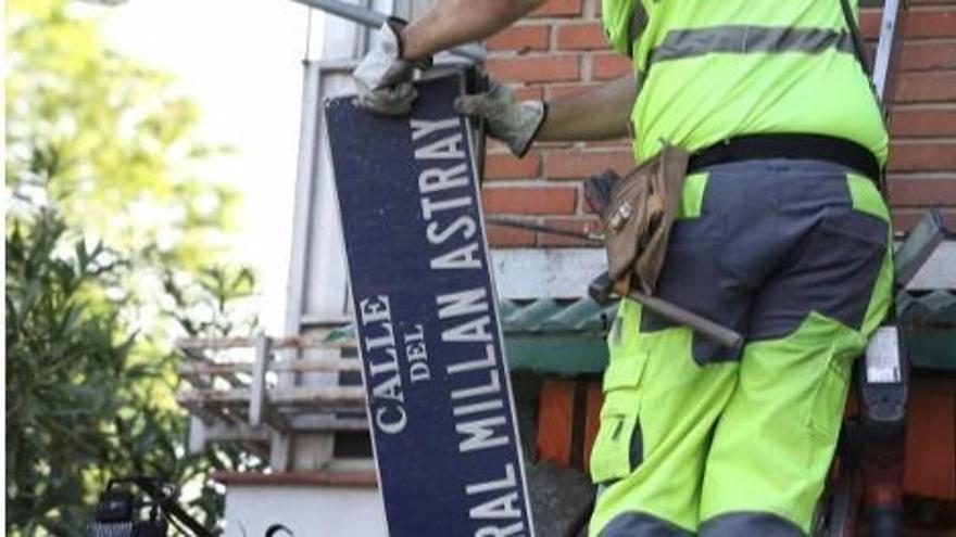 El TSJM obliga al Ayuntamiento de Madrid a mantener la calle General Millán Astray