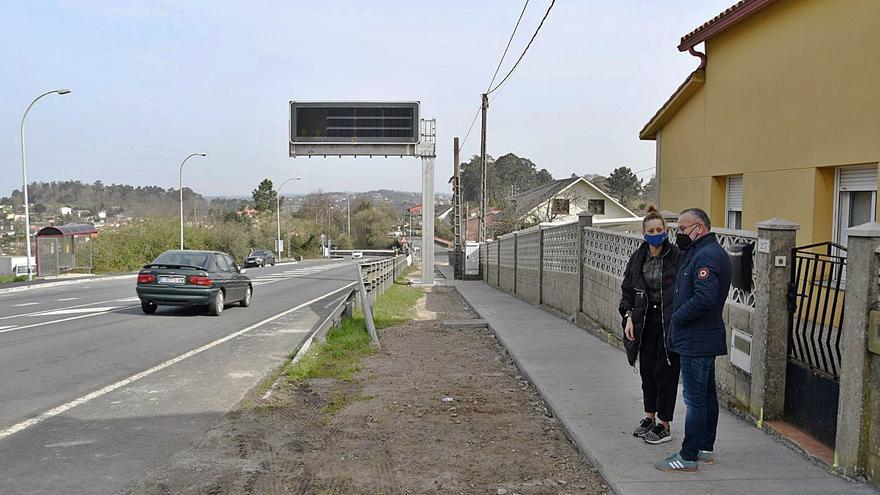 Transportes habilitará pasos seguros en A Rocha, en la N-550, tras pedirlo Cambre