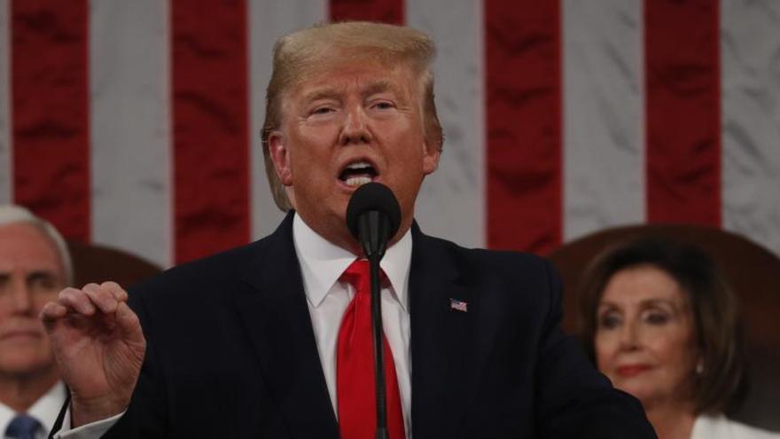 Trump presume de sus logros económicos