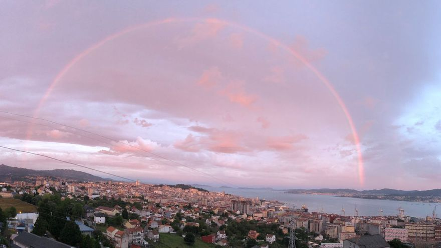¿Qué es eso que se ve en el cielo de Vigo?