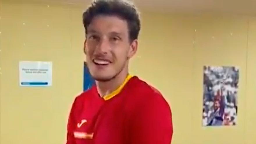 """""""Para mi novia, para Gijón, para toda España"""": la  emocionante dedicatoria de Carreño tras su victoria ante Djokovic"""