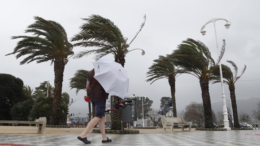 Paraguas y tablas de surf para despedir enero
