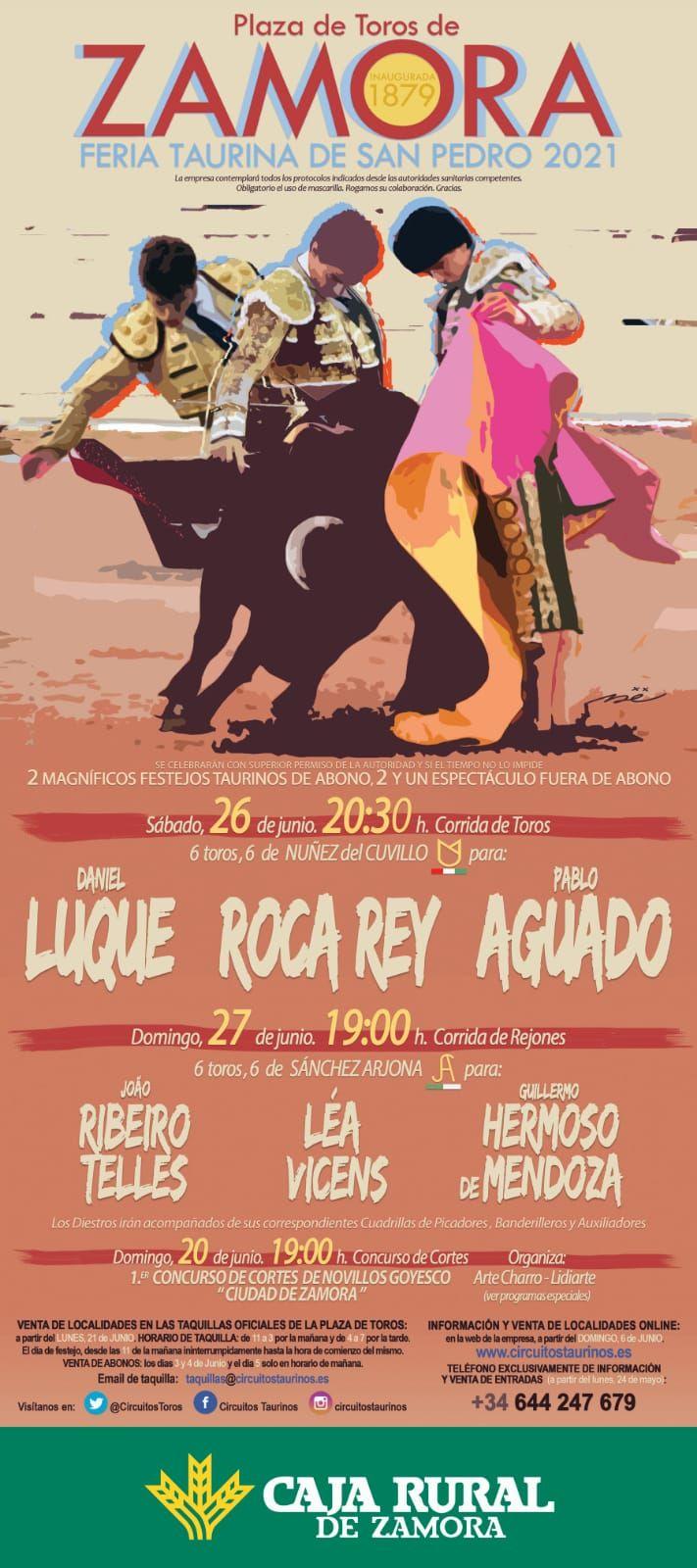 Cartel de la feria taurina de San Pedro 2021