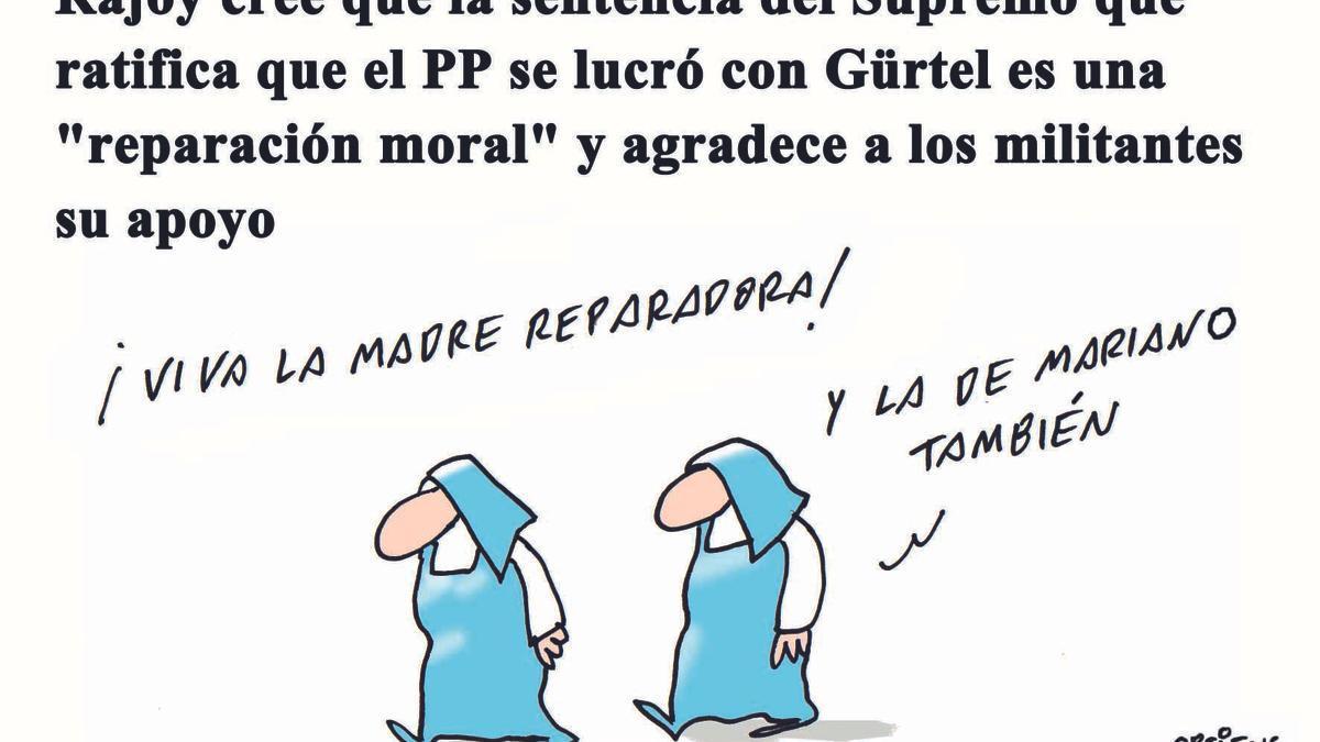 """Rajoy cree que la sentencia del Supremo sobre Gürtel es una """"reparación moral"""""""