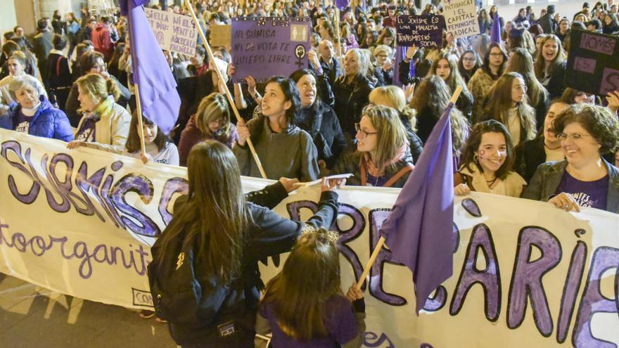 Accions de protesta a Manresa pel 8 de març