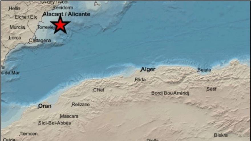 Cuatro terremotos seguidos durante la noche del domingo en Cabo de Palos
