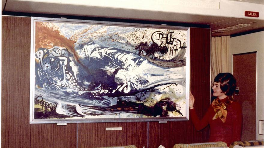 Iberia mostra dues obres que Dalí va pintar per què s'exhibissin en dos DC-10