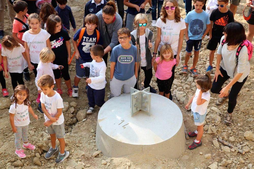 Unos 200 excursionistas se movilizan contra las torres eléctricas de Son Puig