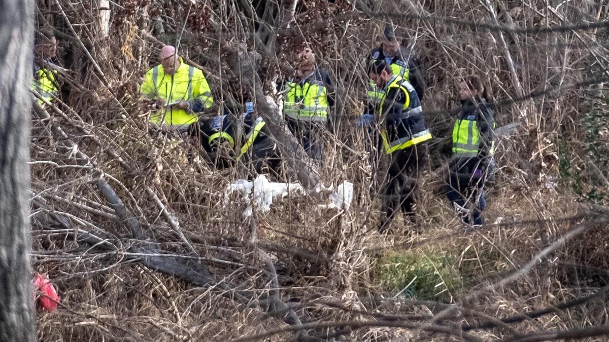 El cadáver se halló en el parque Ebro.