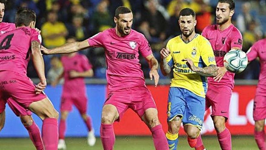 Las Palmas y Málaga empatan en el estadio de Gran Canaria