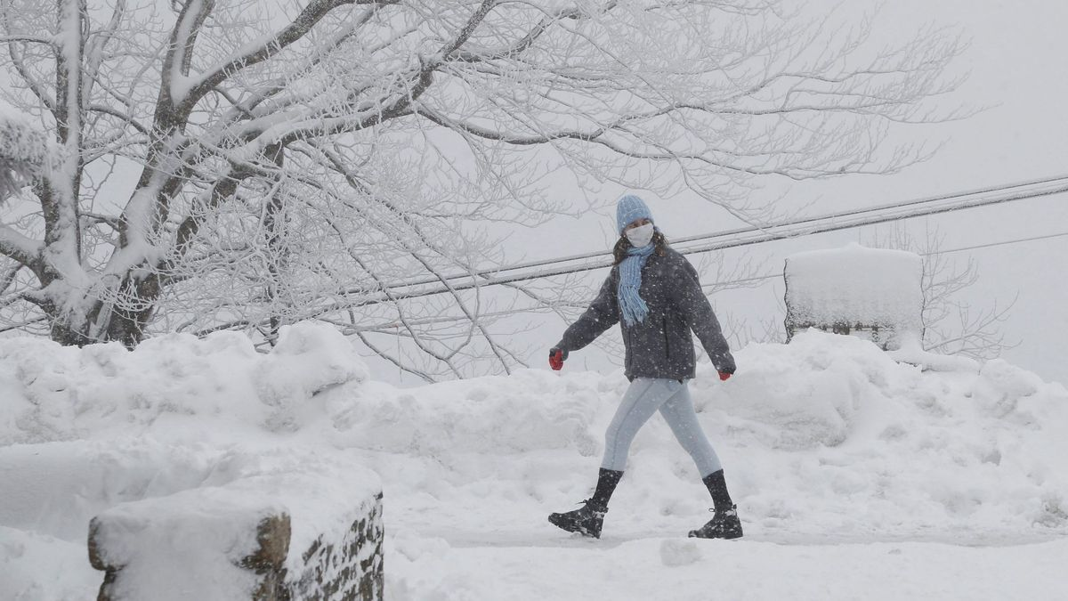 La nieve cubre el fin de semana en Galicia