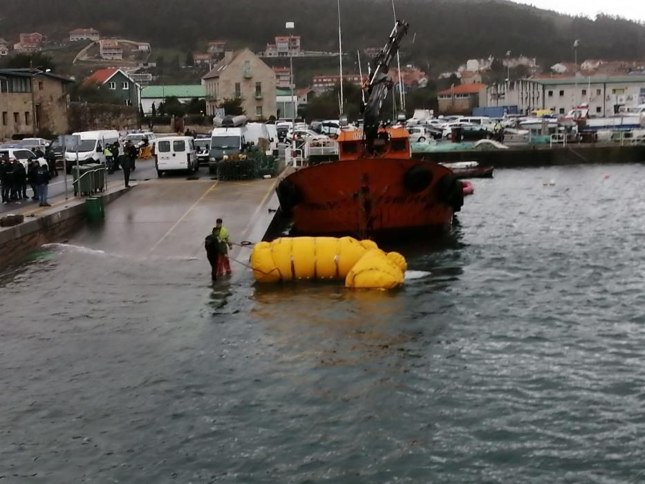 La complicada operación de rescate del narcosubmarino apresado