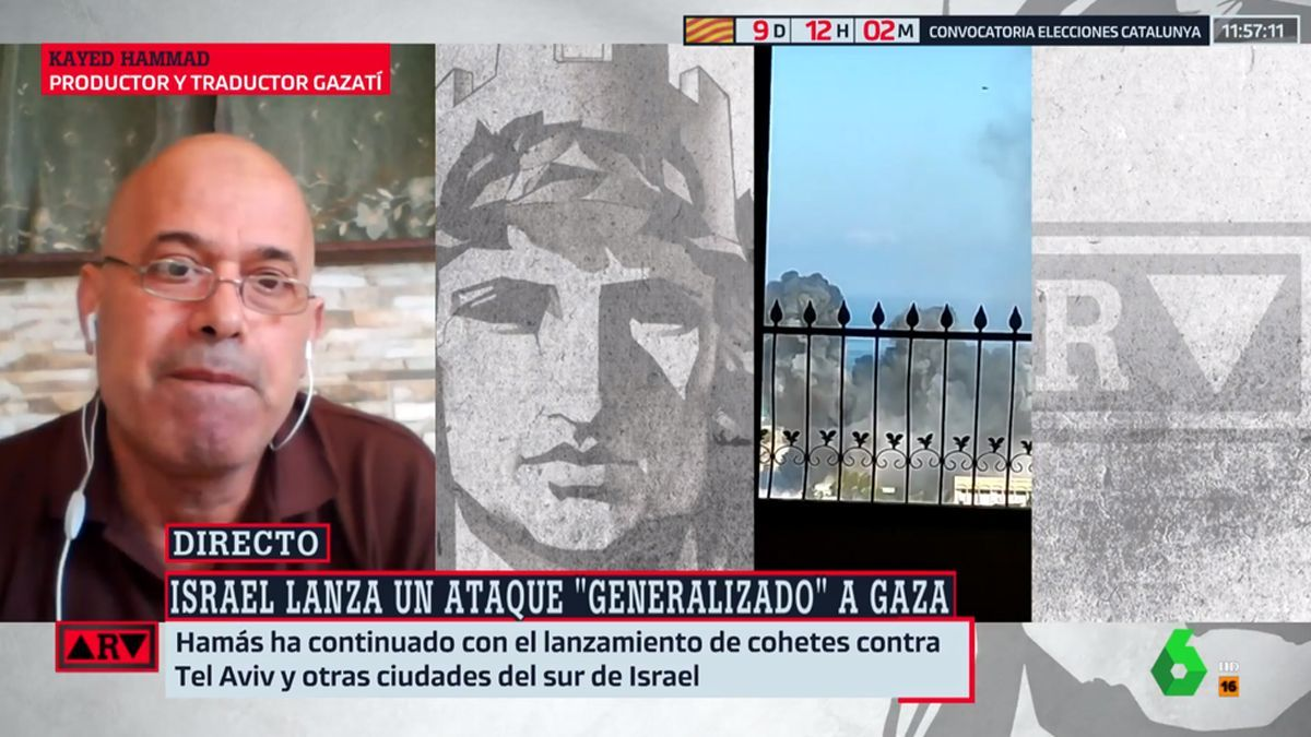 Momento del bombardeo en directo en 'Al Rojo Vivo'.