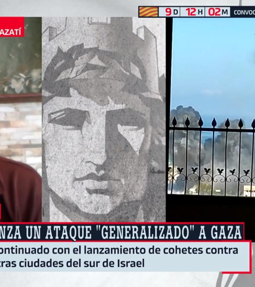 Un bombardeo de Israel interrumpe un directo de 'Al rojo vivo' con Gaza