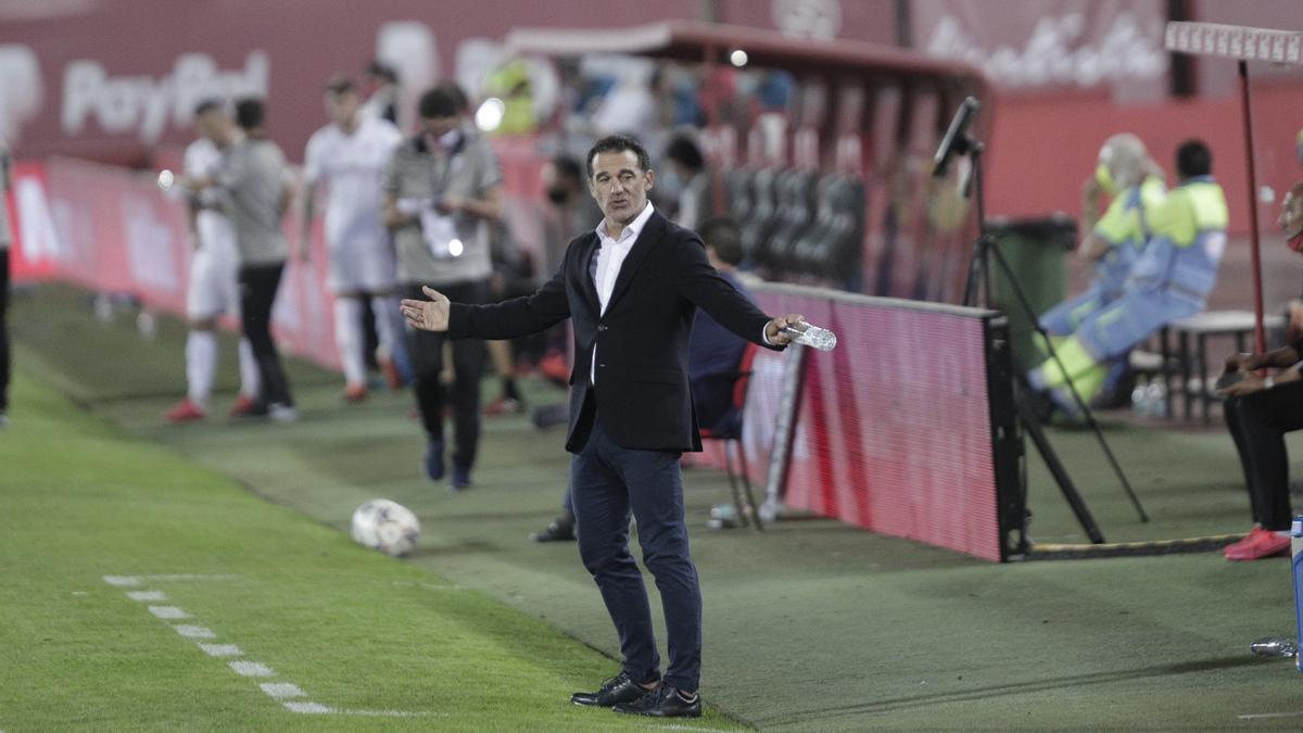Luis García Plaza, durante el partido ante el Albacete.