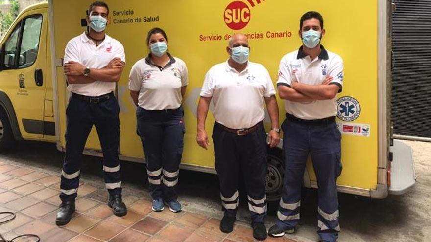 Da a luz en una ambulancia de camino al hospital de La Palma