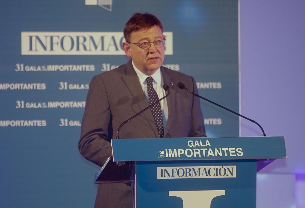Ximo Puig, presidente de la Generalitat Valenciana, en su intervención tras la entrega de premios