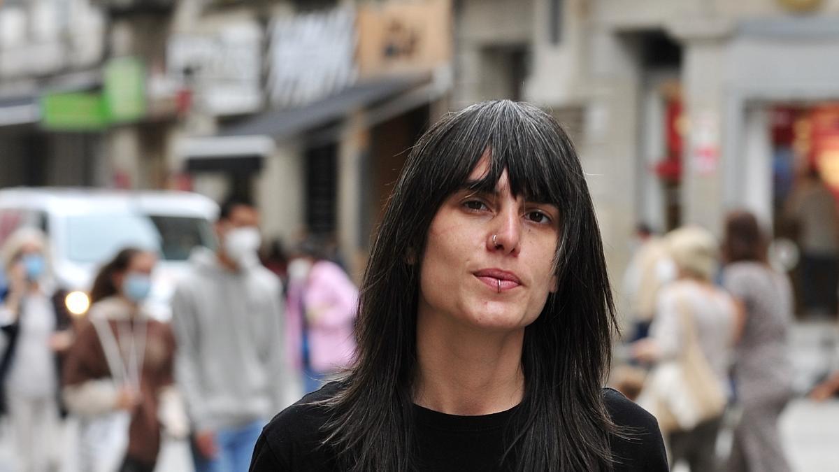 Violeta Mosquera, esta mañana, en Michelena.