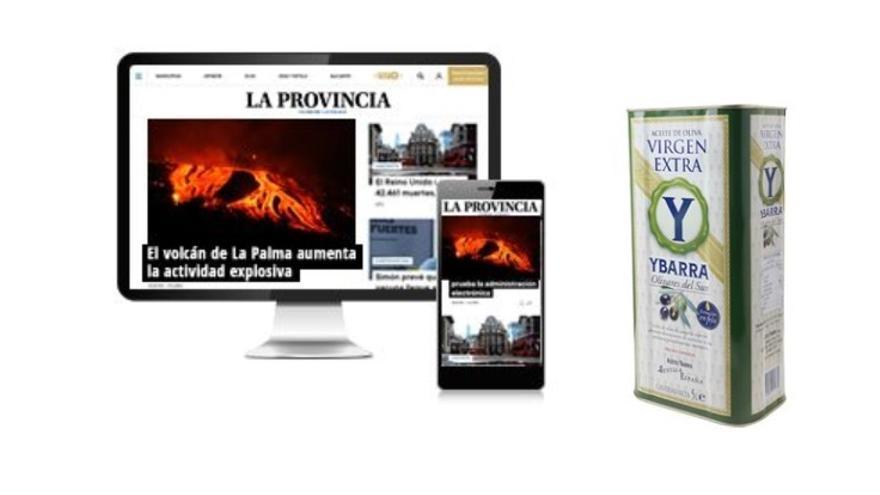 Consigue 5 litros de aceite de oliva virgen extra de Ybarra con tu suscripción a La Provincia
