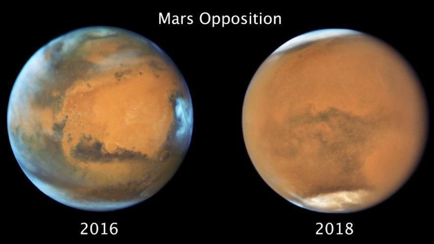 Una tormenta en Marte acortó el invierno en el hemisferio sur
