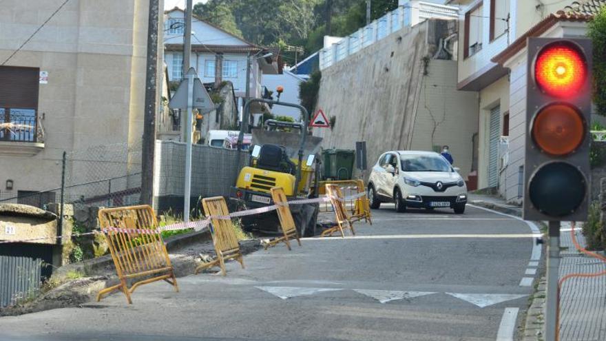La obra en O Valado acaba esta semana y se reabrirá la carretera al tráfico