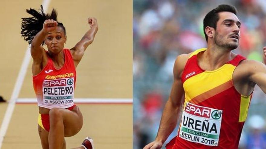 Ana Peleteiro y Jorge Ureña, atletas europeos del mes