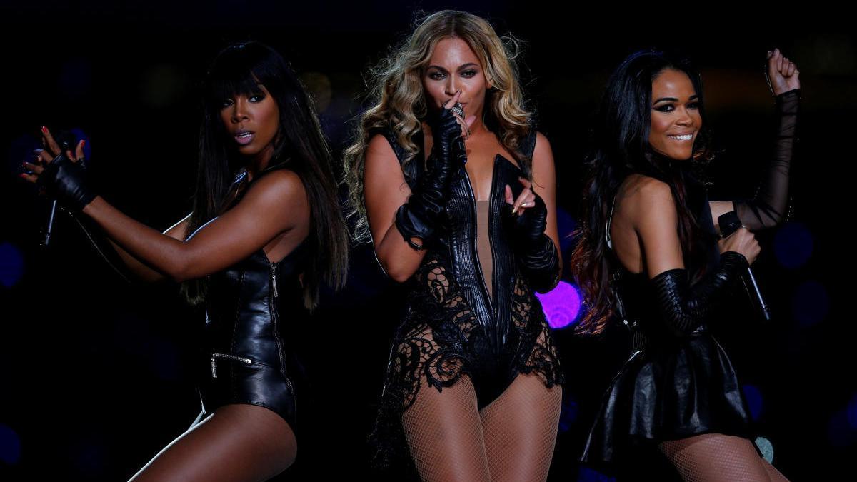 Beyoncé, durante la Super Bowl