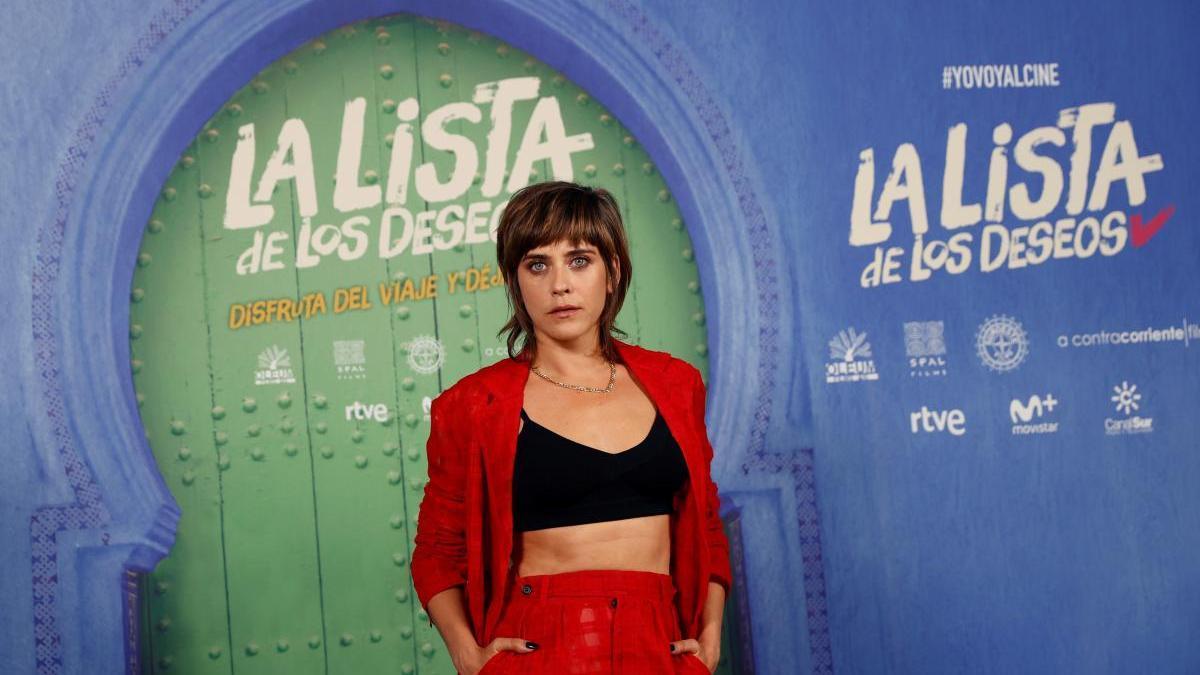 María León posa en la presentación de 'La lista de los deseos'.
