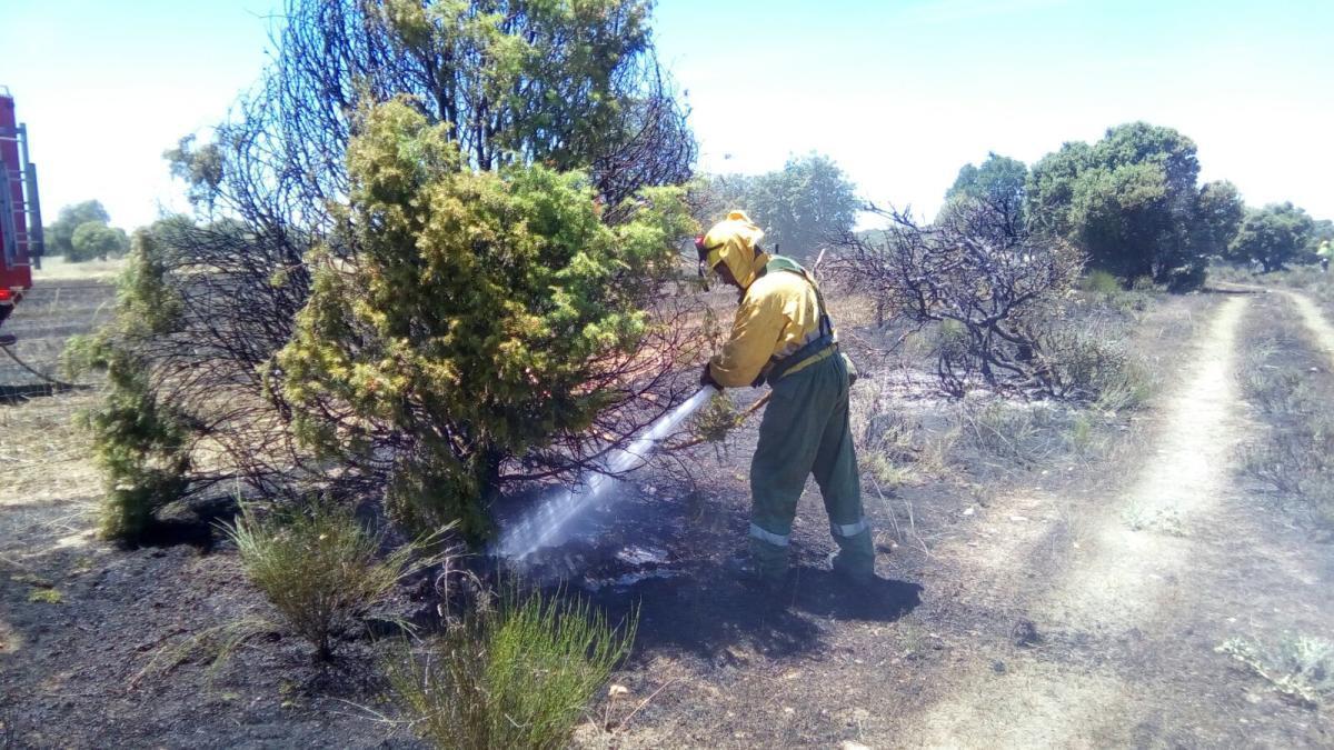 Un incendio en anteriores campañas de verano en la provincia de Zamora.