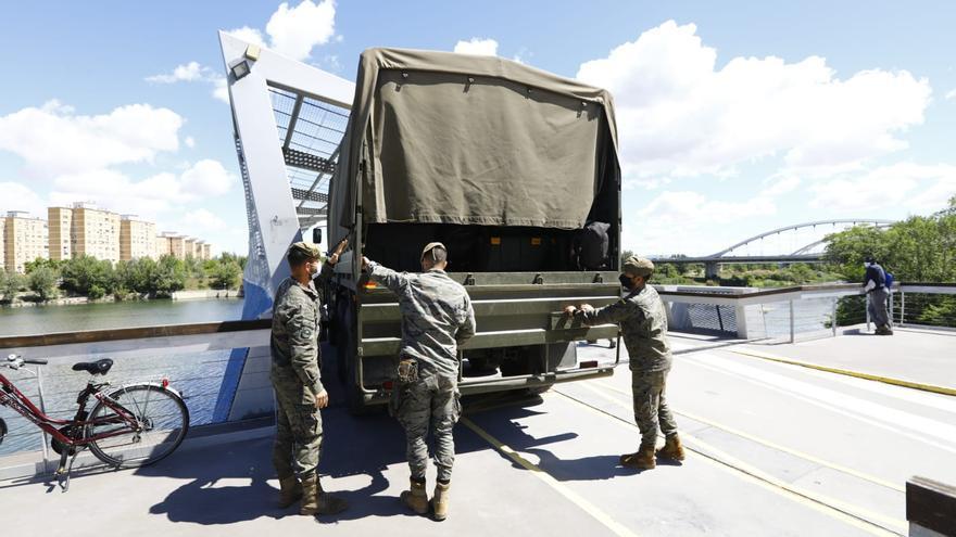 El Ejército participa en la búsqueda de Karim en el río Ebro