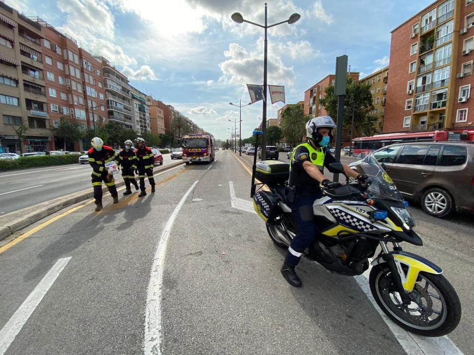 Fuga de combustible en la avenida del Cid