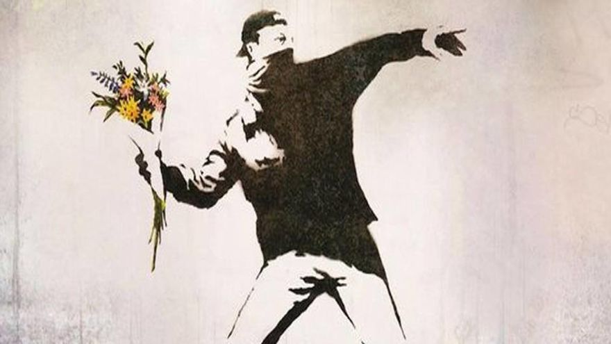 Bansky reaparece con arte casero en plena pandemia