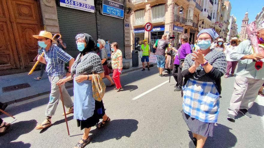 Los pensionistas se manifiestan en defensa del sistema público de pensiones