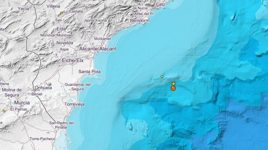 La costa alicantina registra 4 seísmos este domingo de madrugada