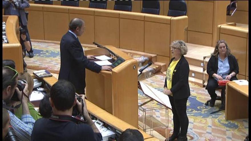 La portavoz de ERC en el Senado, obligada a acatar la Constitución en castellano