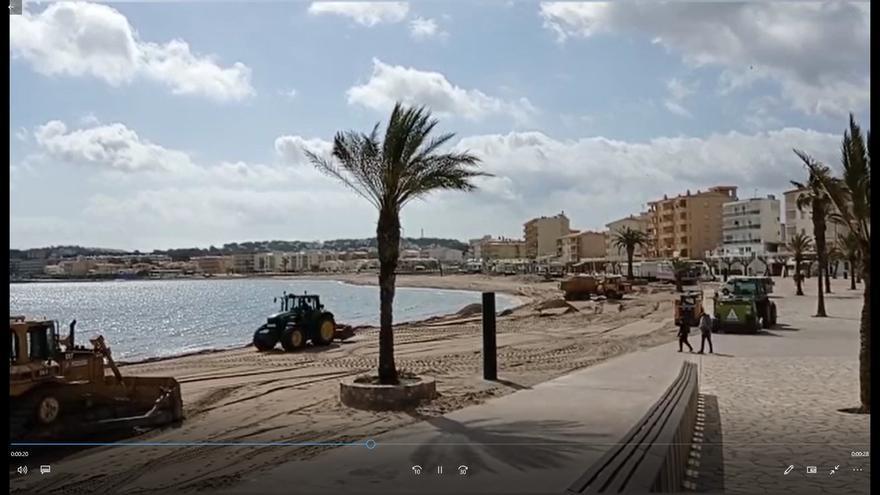 Les platges de l'Escala es posen a punt per a la temporada de bany