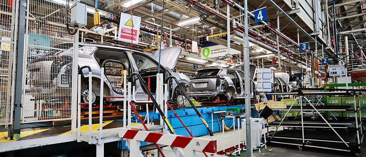 Cadena de montaje de la factoría de Stellantis Vigo.