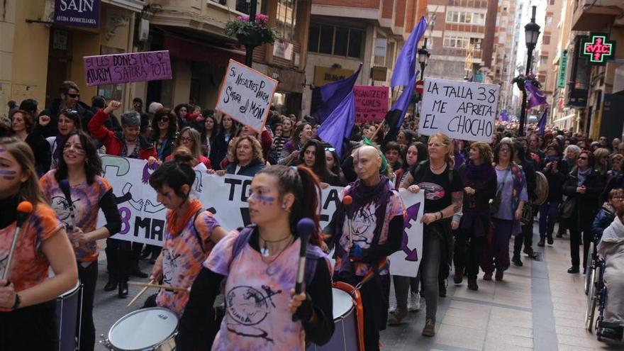 Castellón hace ver de manera masiva su reclamación por la igualdad de género