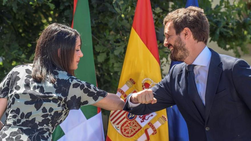 Casado i Arrimadas reafirmen la seva aliança de coalició a Gernika