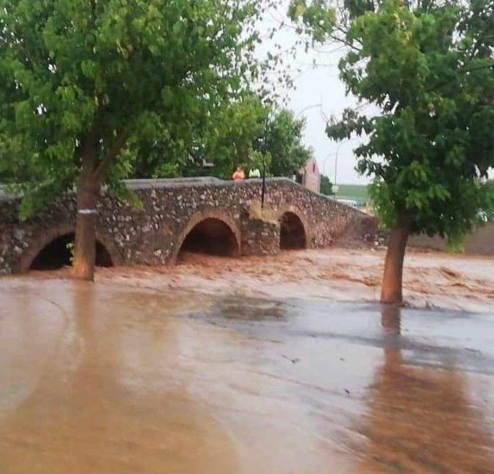 Imágenes del temporal en el sur de Extremadura