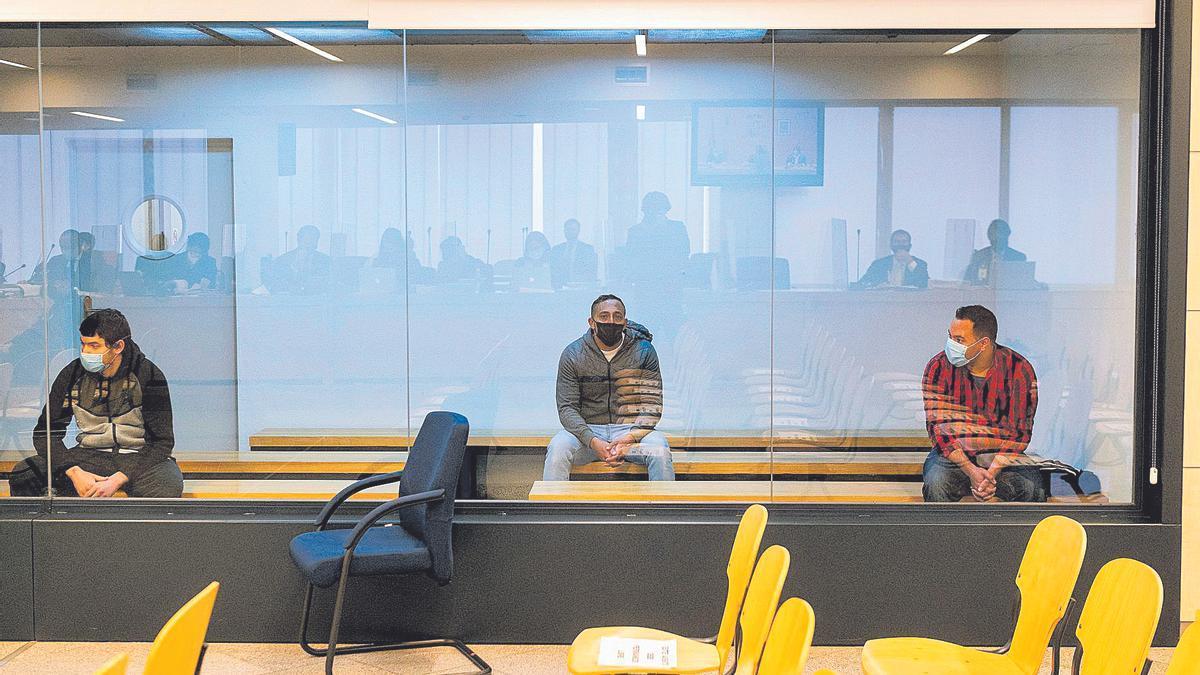 Los acusados de los atentados, en el juicio