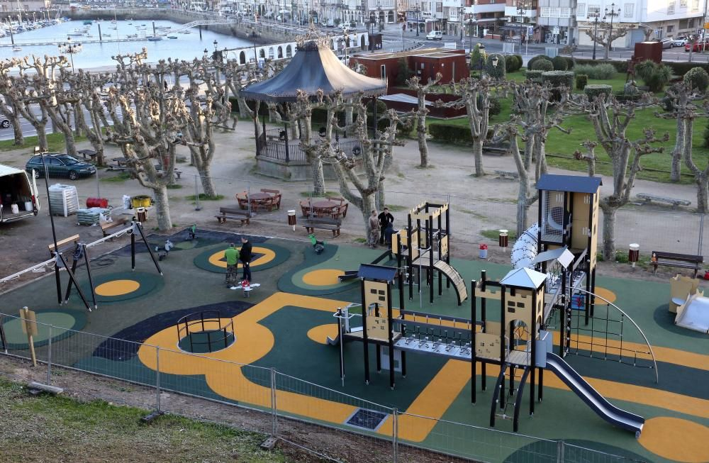 Así es el nuevo parque infantil de A Palma en Baiona