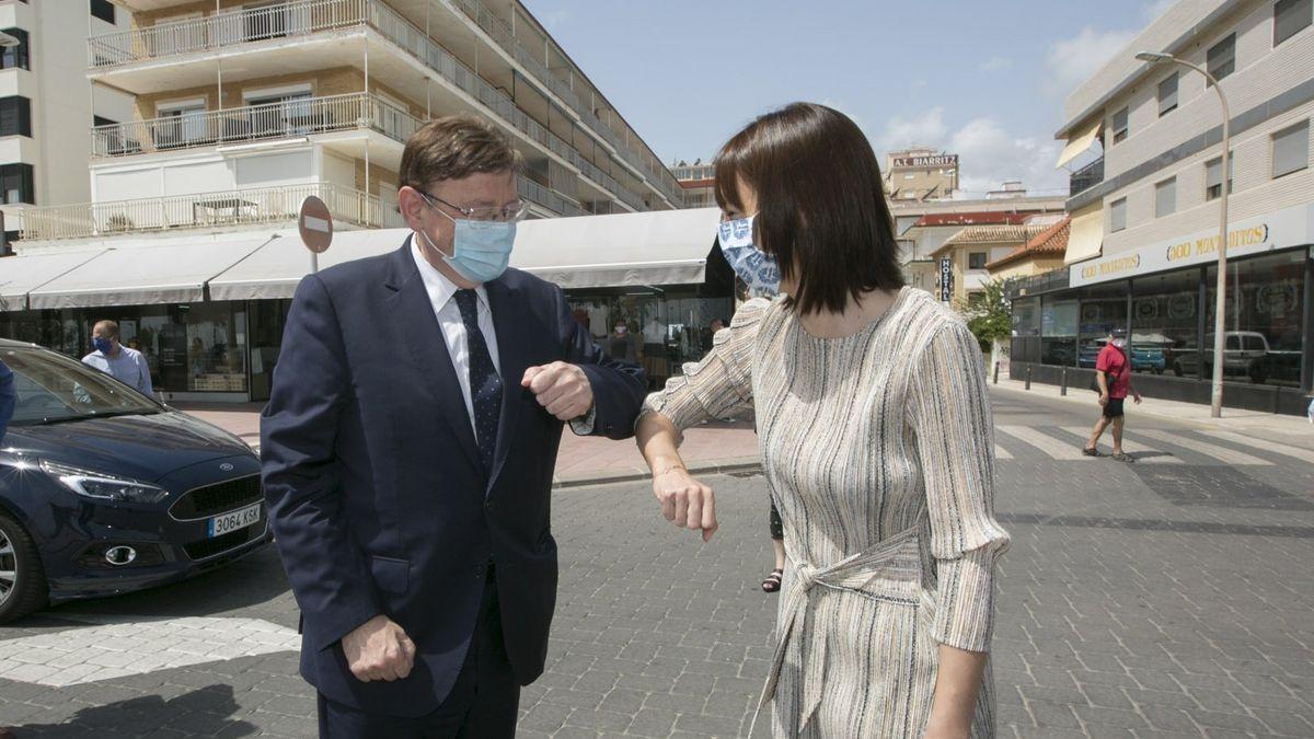 Ximo Puig con la ministra Diana Morant