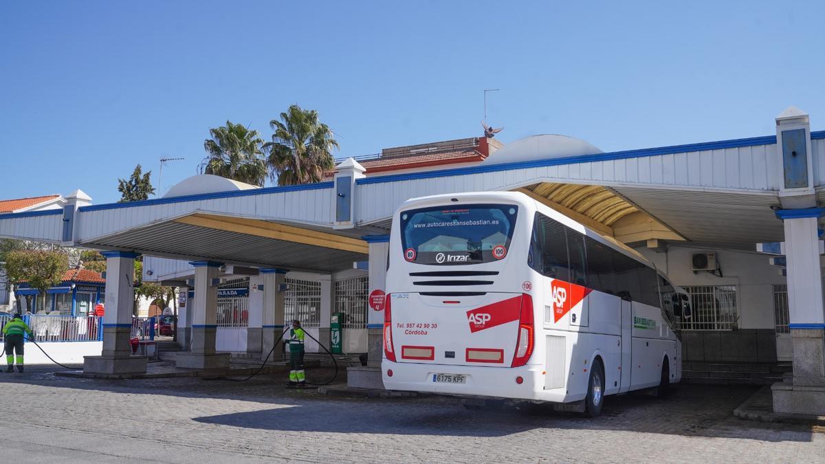 Imagen de la estación de autobuses de Pozoblanco.